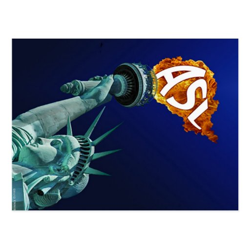 The Statue of Liberty enlightens Deaf People Postcard