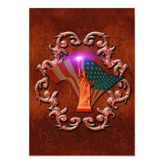 The Statue of Liberty 5x7 Paper Invitation Card