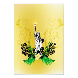 The Statue of Liberty 3.5x5 Paper Invitation Card