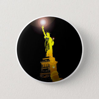 The Statue of Liberty, New York, USA 6 Cm Round Badge