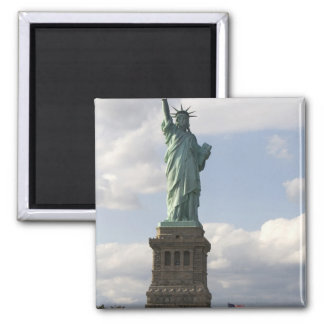 The Statue of Liberty on Liberty Island in New Square Magnet