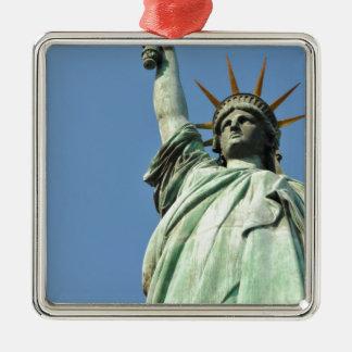 The statue of liberty Silver-Colored square decoration