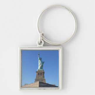 The Statue of Liberty Silver-Colored Square Key Ring