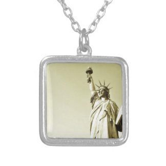 The statue of liberty silver plated necklace