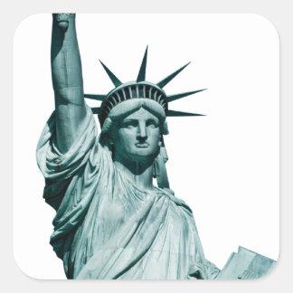 The Statue of Liberty Square Sticker