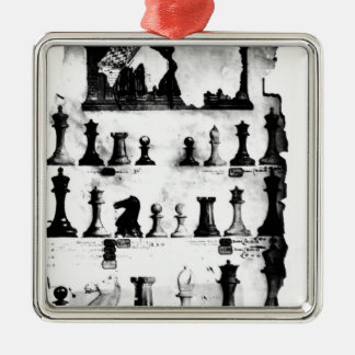 The Staunton Chessmen Patent Drawing Christmas Ornament