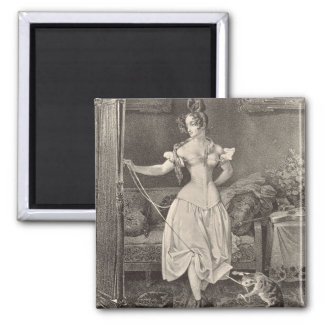 The Stay-lace, engraved by Alfred Leon Lemercier ( Square Magnet