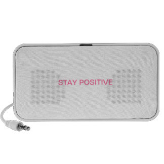 """The """"STAY POSITIVE"""" line! Notebook Speakers"""