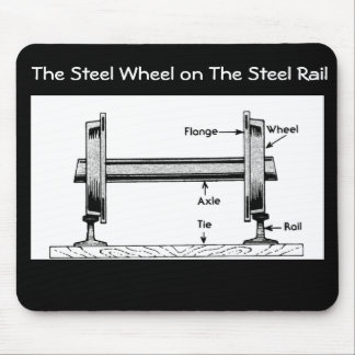 The Steel  Railway Wheel on The Steel Rail Mouse Mat