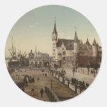 The Steen, Antwerp, Belgium Classic Round Sticker
