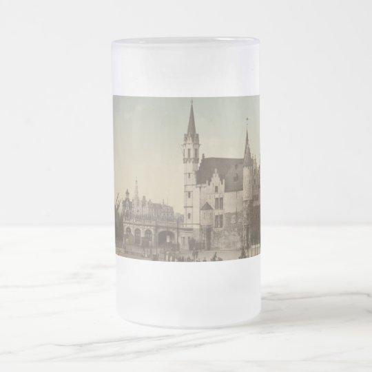 The Steen, Antwerp, Belgium Frosted Glass Beer Mug