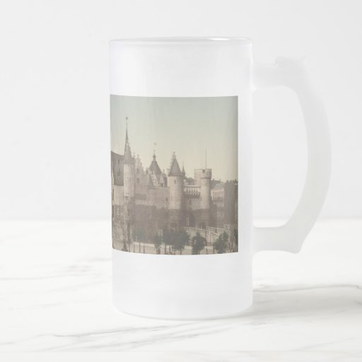 The Steen, Antwerp, Belgium Frosted Glass Mug