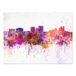 The Step skyline in watercolor background Photo Art