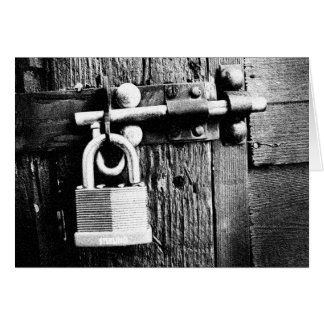 The Sterling Padlock Greeting Card