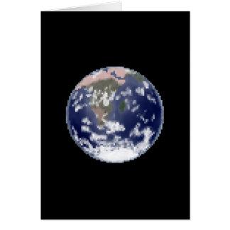 The Still Earth Pixel Art Greeting Card
