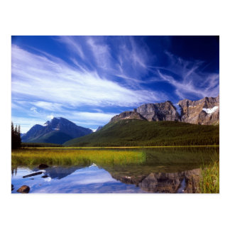 The still waters of Waterfowl Lake make a Postcard