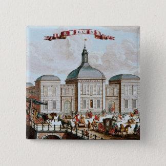 The Stock Exchange, Amsterdam, 1743 15 Cm Square Badge
