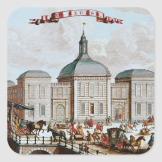 The Stock Exchange, Amsterdam, 1743 Square Sticker