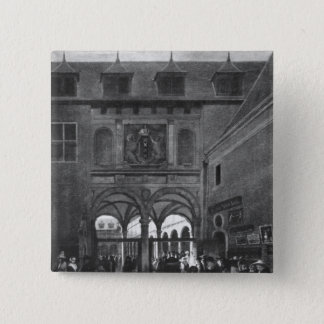 The Stock exchange in Amsterdam 15 Cm Square Badge
