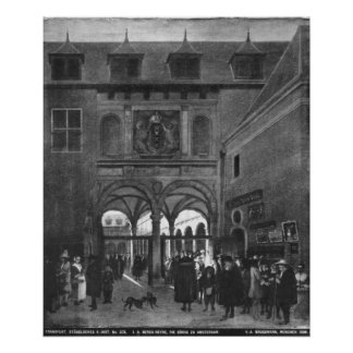 The Stock exchange in Amsterdam Poster
