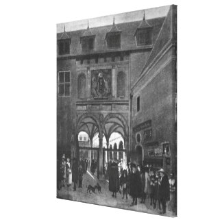 The Stock exchange in Amsterdam Stretched Canvas Print
