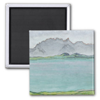 The Stockhorn Mountains and Lake Thun, 1911 Square Magnet