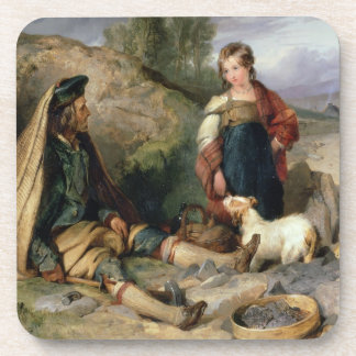 The Stone Breaker and his Daughter, 1830 Beverage Coaster