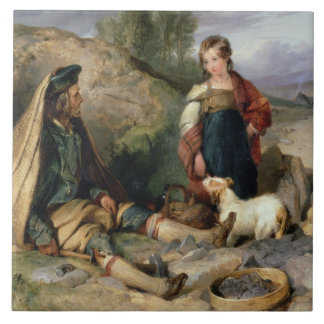 The Stone Breaker and his Daughter, 1830 Tile