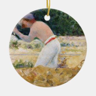 The Stone Breaker, c.1882 (oil on panel) Christmas Ornament