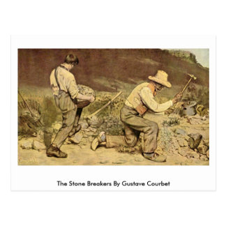 courbet's the stone breakers The stone breakers (1849-50) artist: gustave courbet artwork description & analysis: at the same salon of 1850-51 where he made waves with a burial at ornans , courbet also exhibited the stone breakers .