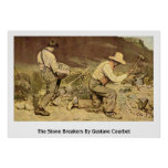 The Stone Breakers By Gustave Courbet Poster