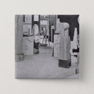 The Stone Carver's Workshop, from the Workshops of 15 Cm Square Badge