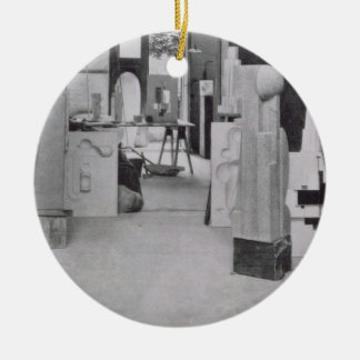 The Stone Carver's Workshop, from the Workshops of Christmas Ornament