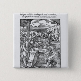 The stone-cutter 15 cm square badge