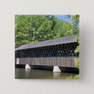 The Stone Mountain Covered Bridge at Stone 15 Cm Square Badge