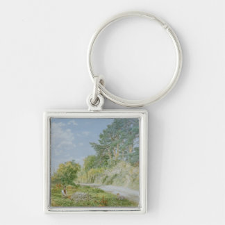 The Stonebreaker, 1868 Silver-Colored Square Key Ring
