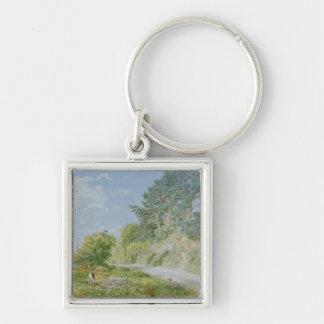 The Stonebreaker, 1868 Silver-Colored Square Key Ring