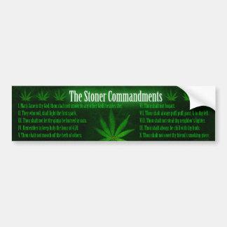 The Stoner Commandments - Bumper Sticker