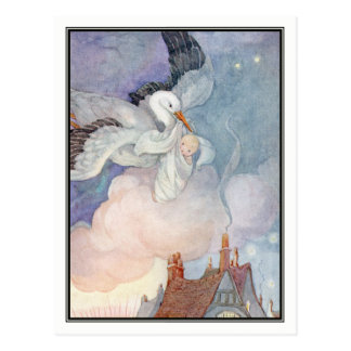 The Stork by Anne Anderson Postcard