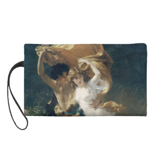 The Storm by Pierre Auguste Cot Wristlet Clutches