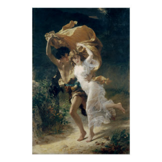The Storm by Pierre Auguste Cot Poster