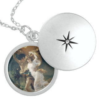 The Storm by Pierre Auguste Cot Sterling Silver Necklace