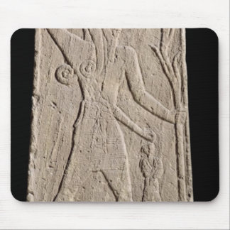 The storm-god Baal with a thunderbolt Mouse Pad