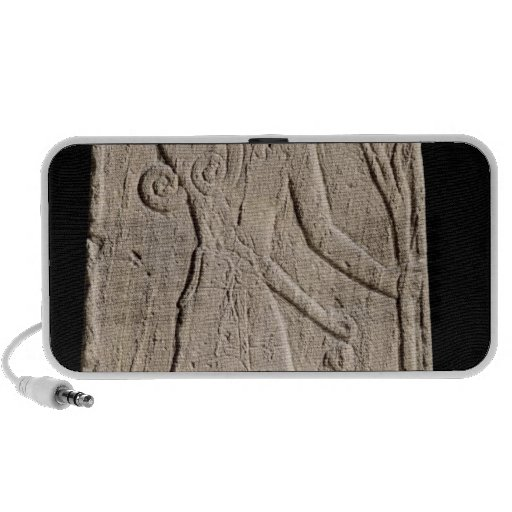 The storm-god Baal with a thunderbolt Portable Speakers