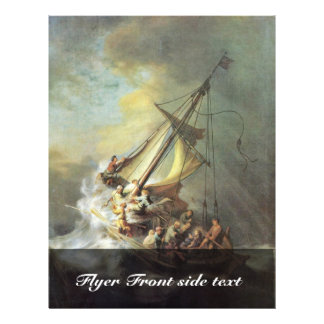 The Storm On The Sea Of Galilee. By Rembrandt Van 21.5 Cm X 28 Cm Flyer