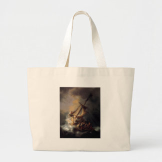 The-Storm-on-the-Sea-of-Galilee-by-Rembrandt-van-R Jumbo Tote Bag