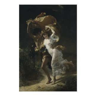 The Storm Pierre-Auguste Cot 1880 Poster