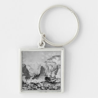 The Storming of Magdala Silver-Colored Square Key Ring