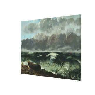 The Stormy Sea or, The Wave, 1870 Canvas Print