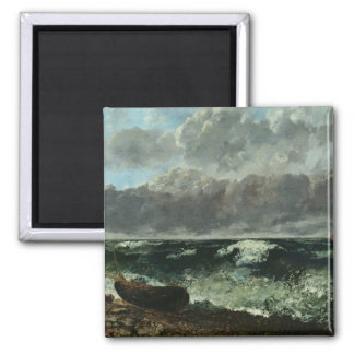 The Stormy Sea or, The Wave, 1870 Square Magnet